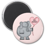Valentine  Elephant Holding Heart Balloon Fridge Magnets