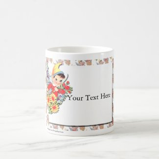 Valentine Elf Your Text Here Coffee Mug