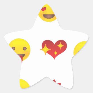 Valentine Emojis Star Sticker