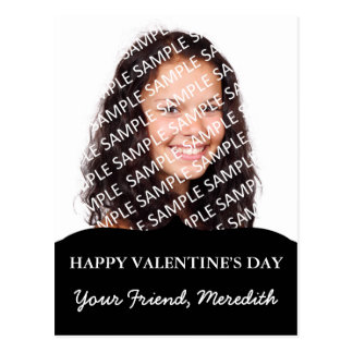 Valentine Exchange Photo Template Postcard