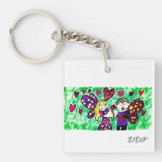 Valentine fairies keychain