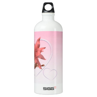 Valentine Fairy and frosted pink hearts - 2 Aluminum Water Bottle