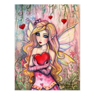 Valentine Fairy Postcard by Molly Harrison