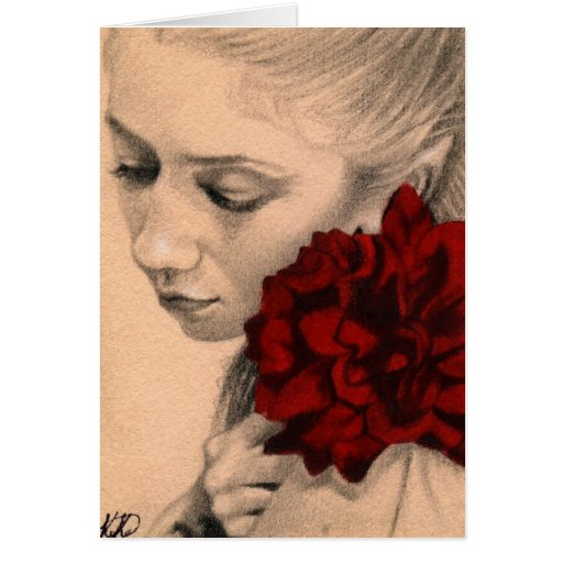Valentine fairy rose Card