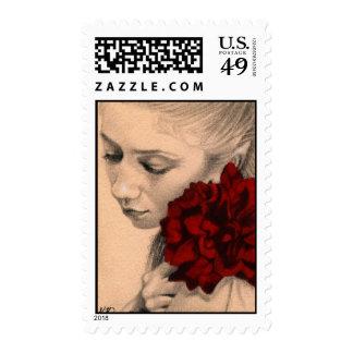 Valentine fairy rose Postage