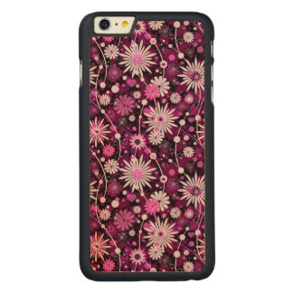 Valentine Floral Pattern Carved Maple iPhone 6 Plus Case