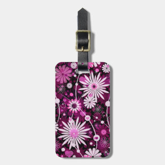Valentine Floral Pattern Luggage Tag