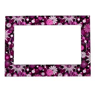Valentine Floral Pattern Photo Frame Magnet