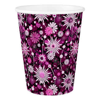 Valentine Floral Pattern Paper Cup