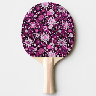 Valentine Floral Pattern Ping Pong Paddle