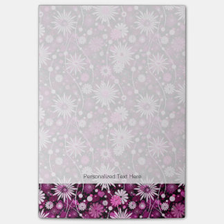 Valentine Floral Pattern Post-it Notes