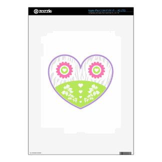 Valentine Flower Heart iPad 3 Skins