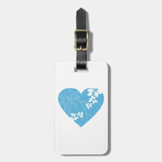 Valentine Flower Heart Luggage Tag