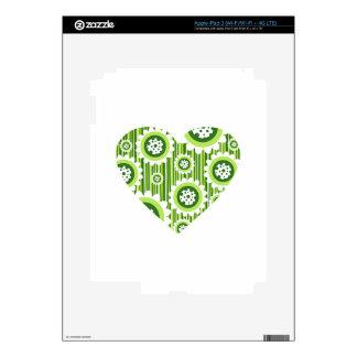 Valentine Flower Heart Skins For iPad 3