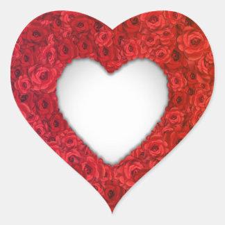 Valentine Flowers Heart Sticker