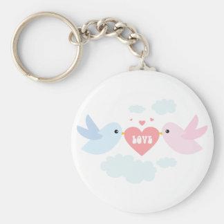 Valentine Flying Love Birds Keychain