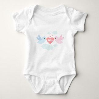Valentine Flying Love Birds Tee Shirt