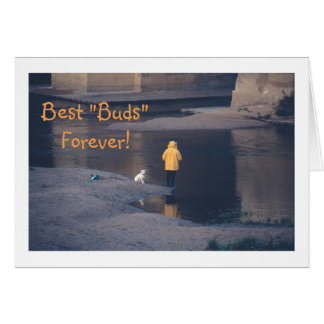 """""""VALENTINE FOR FRIEND/PERSON WITH DOG AT RIVER/BES CARDS"""