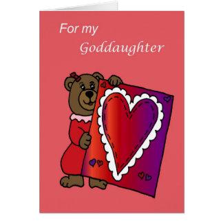 Valentine for goddaughter card