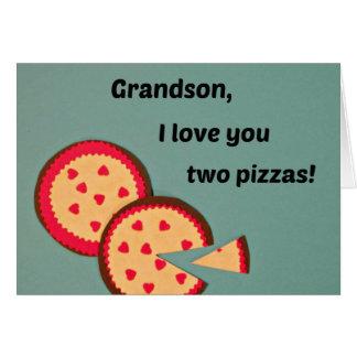 Valentine for Grandson - Pizza humor Card