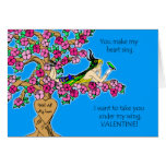 Valentine for Husband, Carve Names in Tree, Birds Card