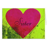 Valentine for Sister Greeting Card