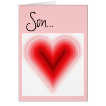 Valentine for Son Greeting Card