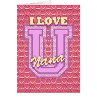 Valentine for Your Nana Card