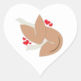 Valentine Fortune Heart Sticker
