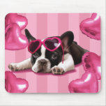 Valentine French  Bulldog Puppy Mouse Pad