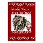 Valentine Friend Grizzly Bear Card