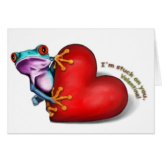 valentine frog card