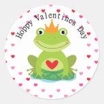 Valentine Frog Prince Stickers