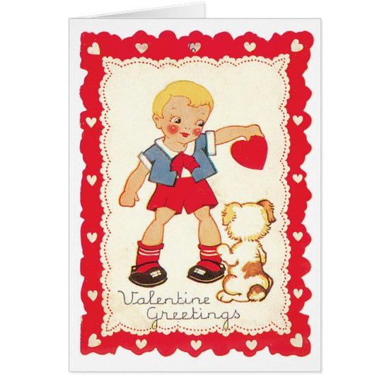 Valentine from a Boy and His Dog Card