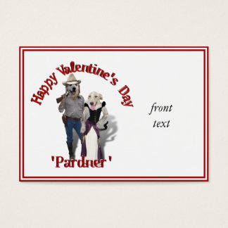 Valentine from the Old West Dogs Business Card