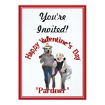 """Valentine from the Old West Dogs 5"""" X 7"""" Invitation Card"""