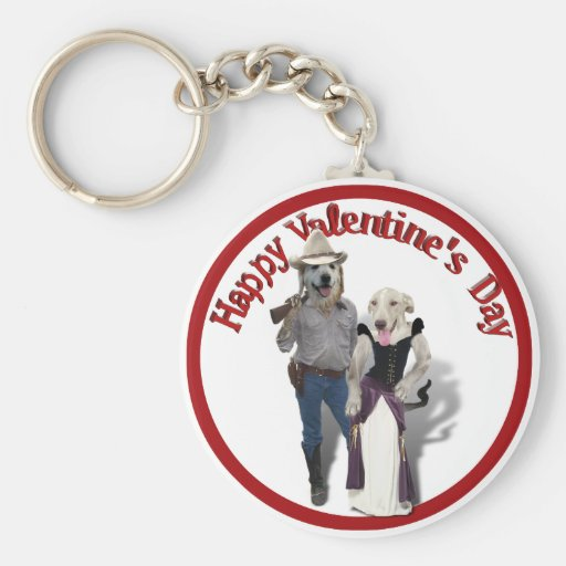 Valentine from the Old West Dogs Key Chains