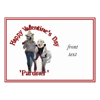 Valentine from the Old West Dogs Large Business Card