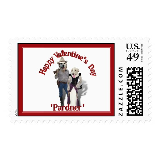 Valentine from the Old West Dogs Postage