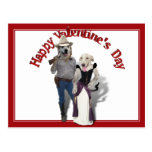 Valentine from the Old West Dogs Postcard