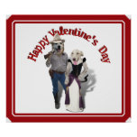 Valentine from the Old West Dogs Poster