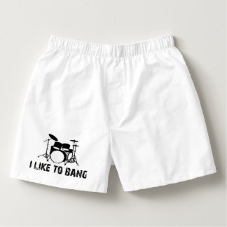 valentine funny I like to bang drummer Boxers