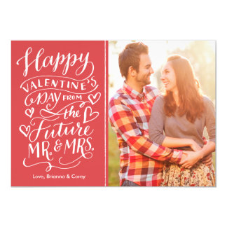 Valentine Future Mr. and Mrs. Photo Save The Date Card