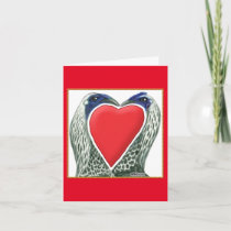 Valentine Game Chickens Holiday Card