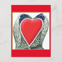 Valentine Game Chickens Holiday Postcard