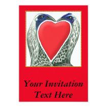Valentine Game Chickens Invitation