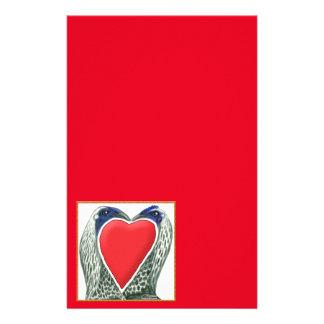 Valentine Game Chickens Stationery Design