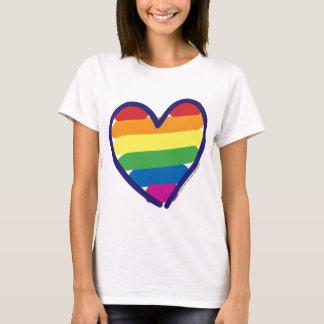 Valentine Gay Pride Rainbow Heart T-Shirt