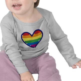Valentine Gay Pride Rainbow Heart Tshirts