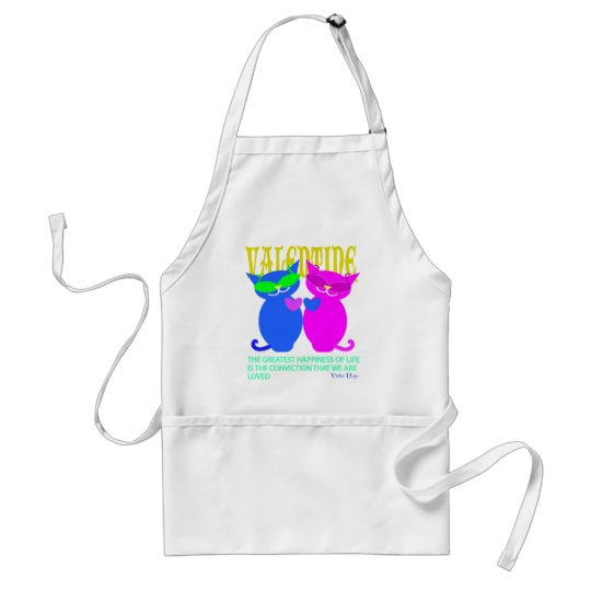 Valentine gifts: Two cats Adult Apron